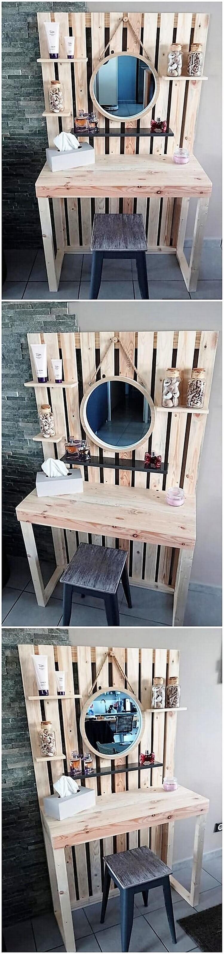 Build Your Own Diy Pallet Makeup Vanity Ikea Desk And Vanity