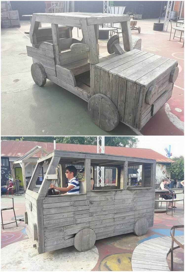 Pallet Jeep and Wagon
