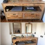 Pallet Sink with Drawers
