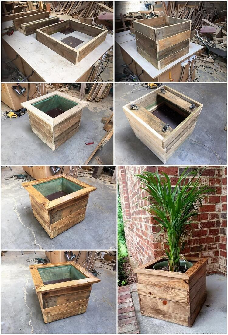 Step by Step Pallet Planter