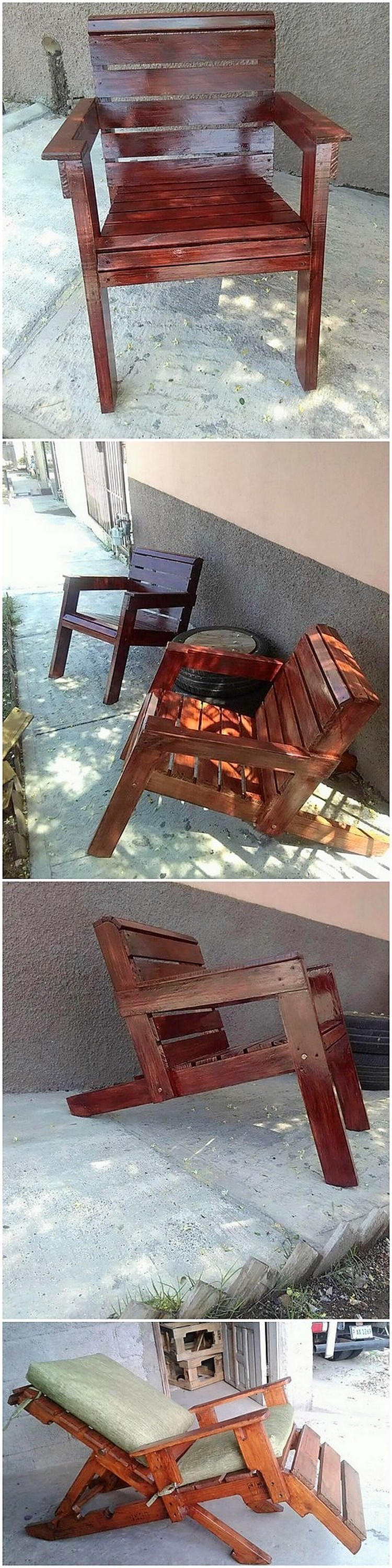 Wood Pallet Adirondack Chair