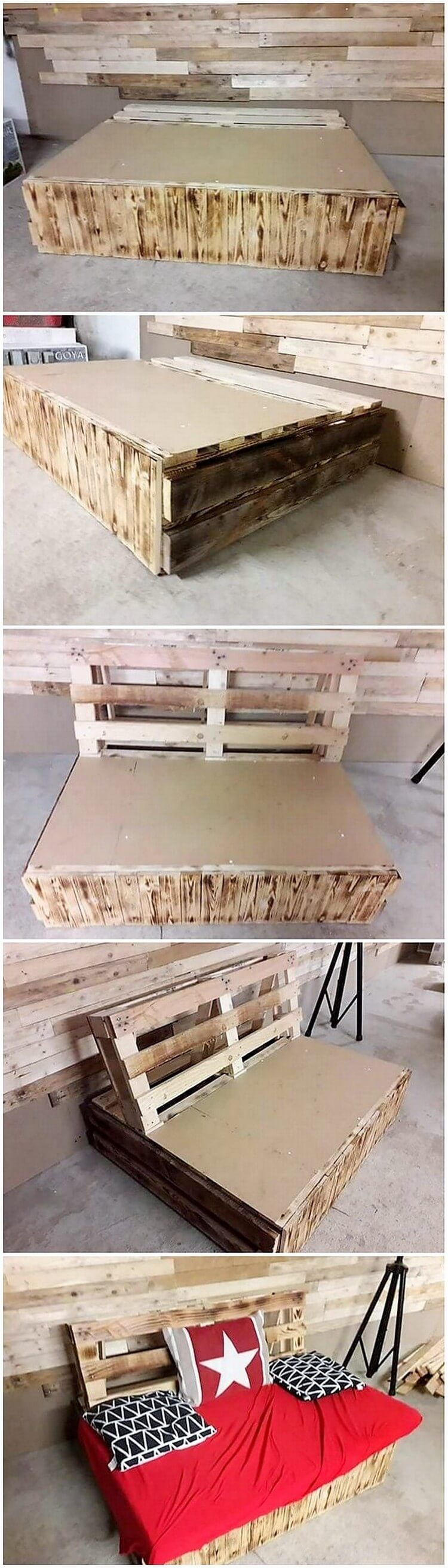 DIY Pallet Daybed or Couch