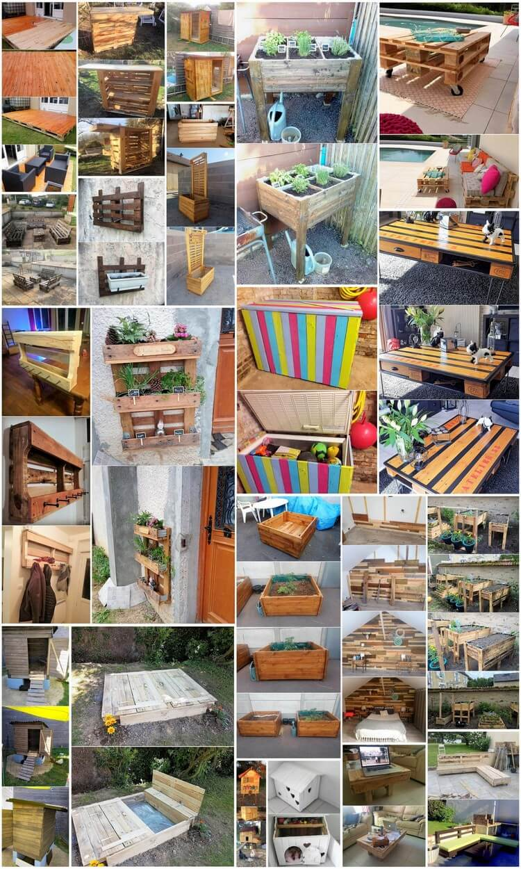 Enchanting Ideas for Wood Pallets Reusing