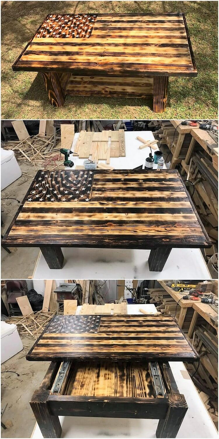 Lift Up Top Pallet Table