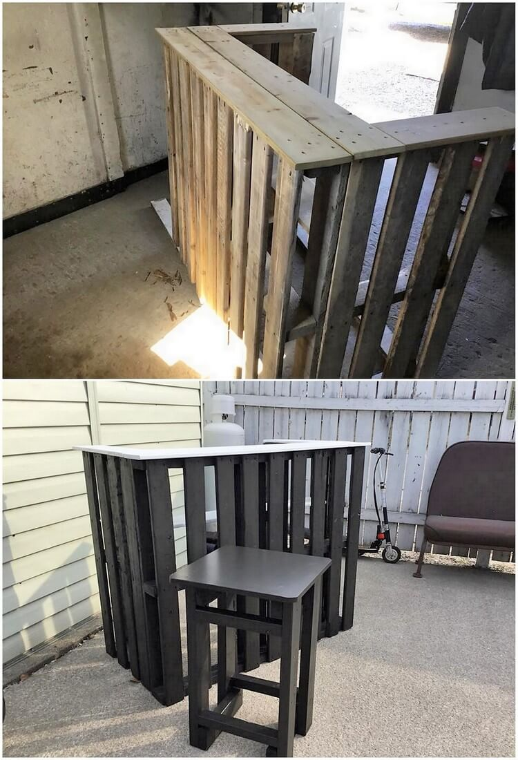 Pallet Bar and Stool