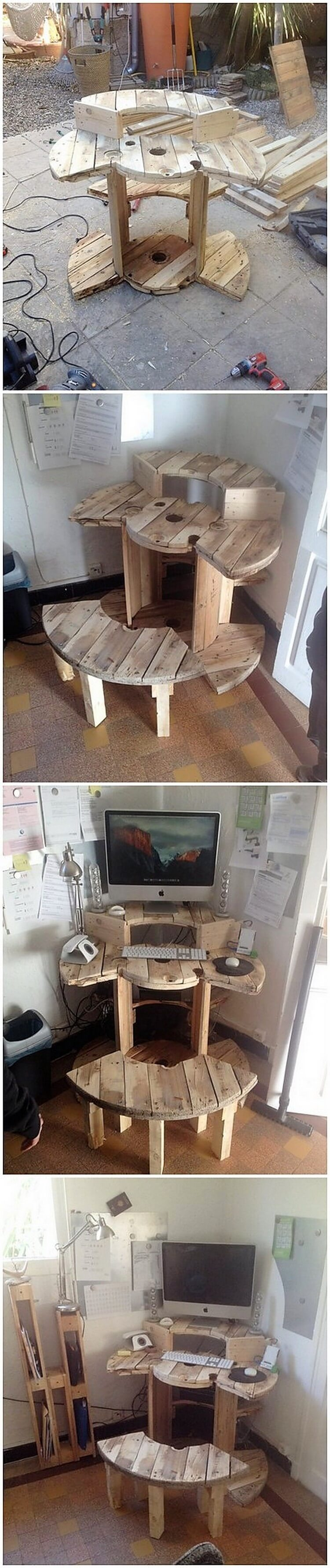 Pallet Computer Table and Bench