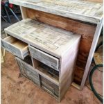 Pallet Counter Table or Desk with Drawers