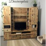 Pallet Cupboard with Media Unit