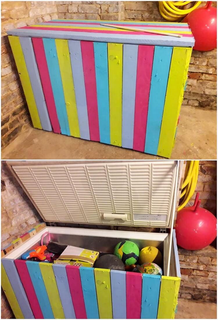 Pallet Kids Toy Storage Box