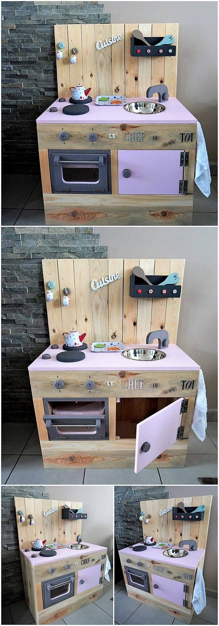 Pallet Kitchen Creation for Kids