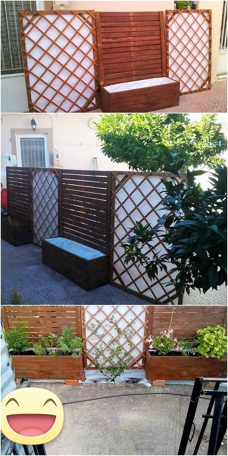 Pallet Planter with Fence