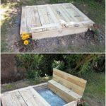 Pallet Sandbox for Kids