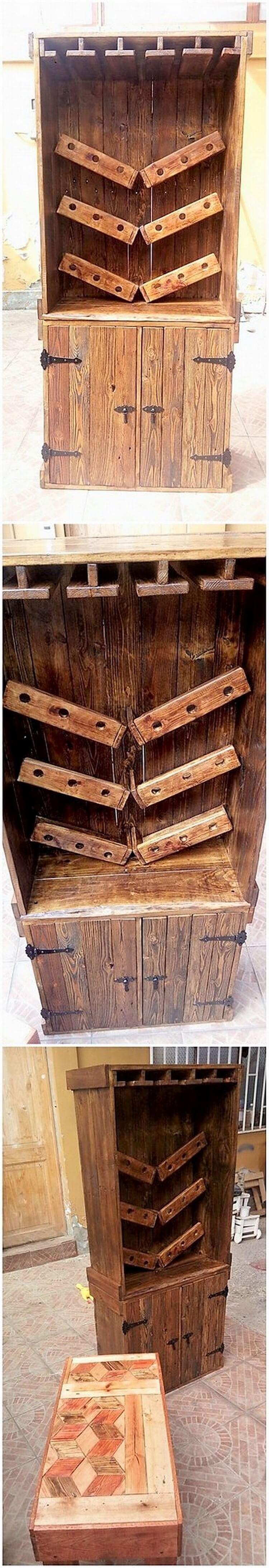 Pallet Wine Cabinet