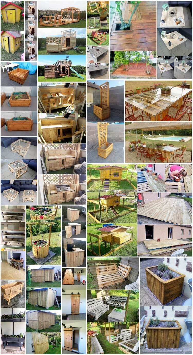Useful DIY Ideas to Reuse Old Wood Pallets