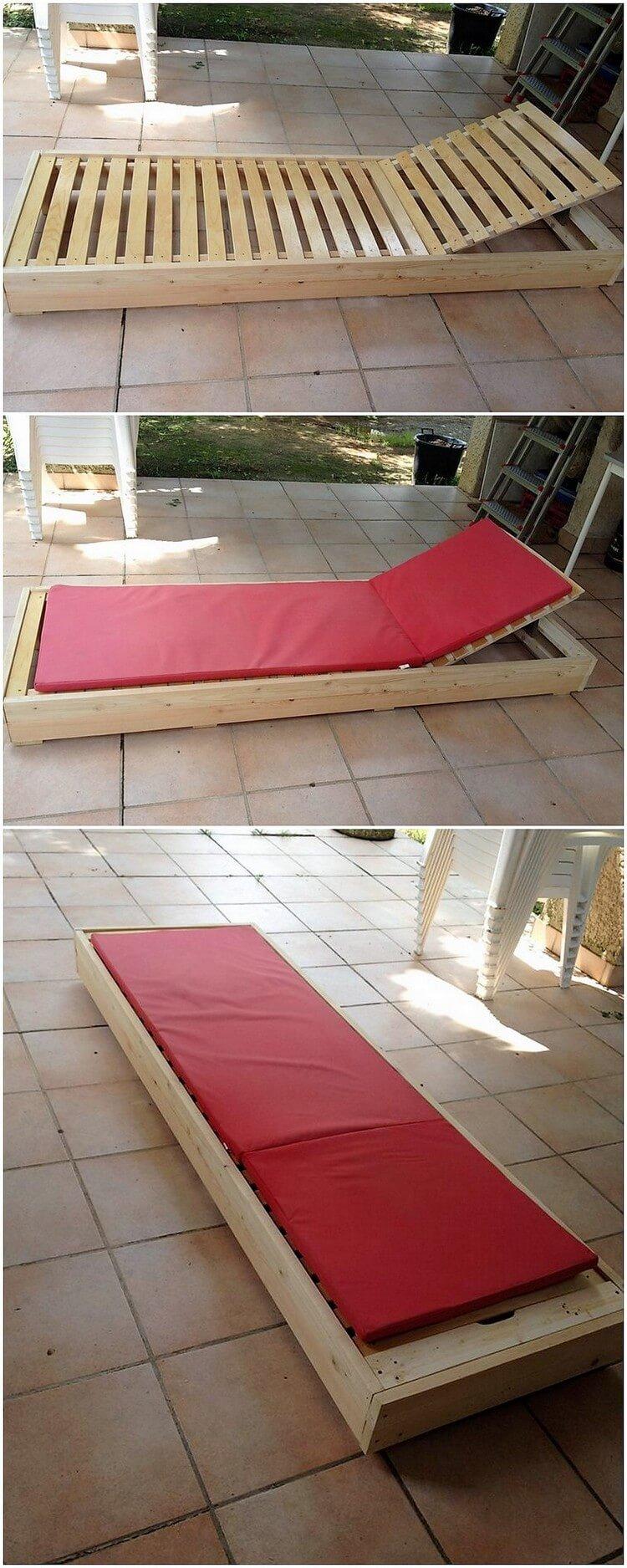 Wood Pallet Sun Lounger