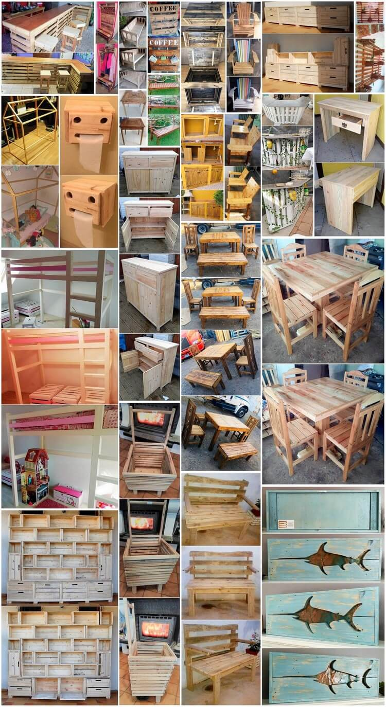 Marvelous DIY Ideas for Wood Pallets Recycling