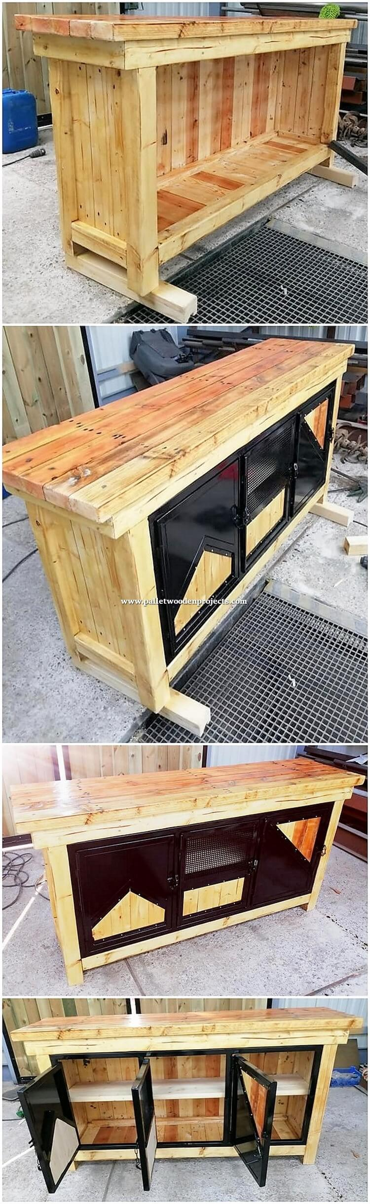 Details about  /Banana Stand Reclaimed Pallet Wood Handmade Free Shipping