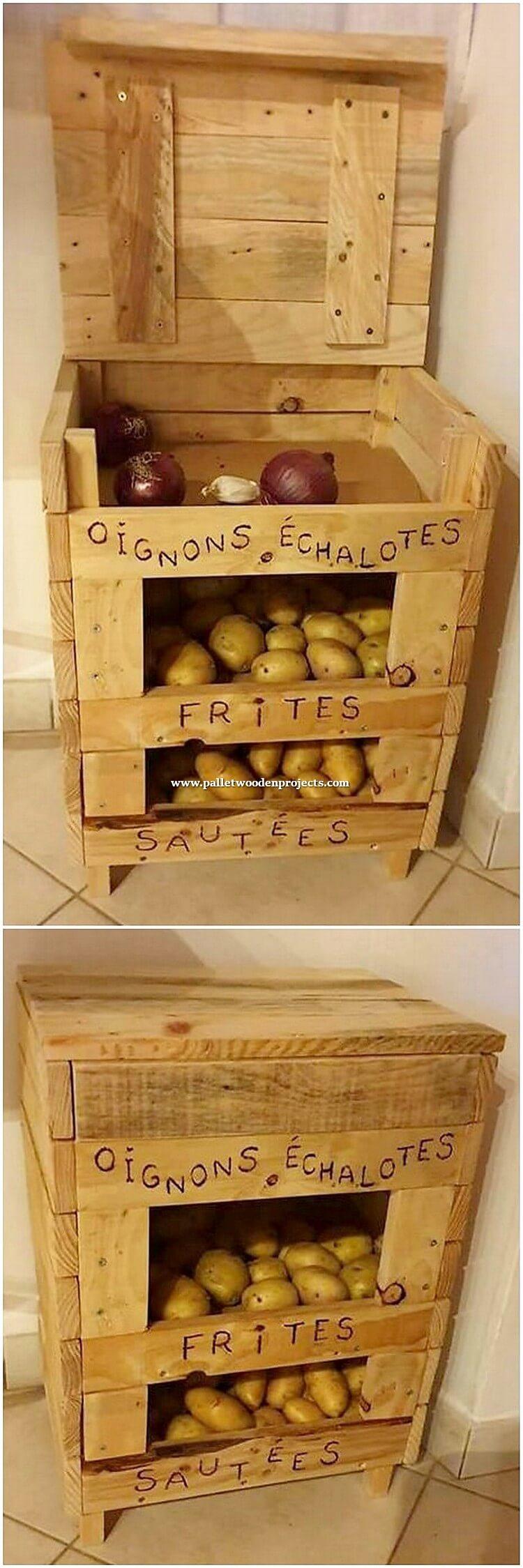 Pallet Vegetable Storage