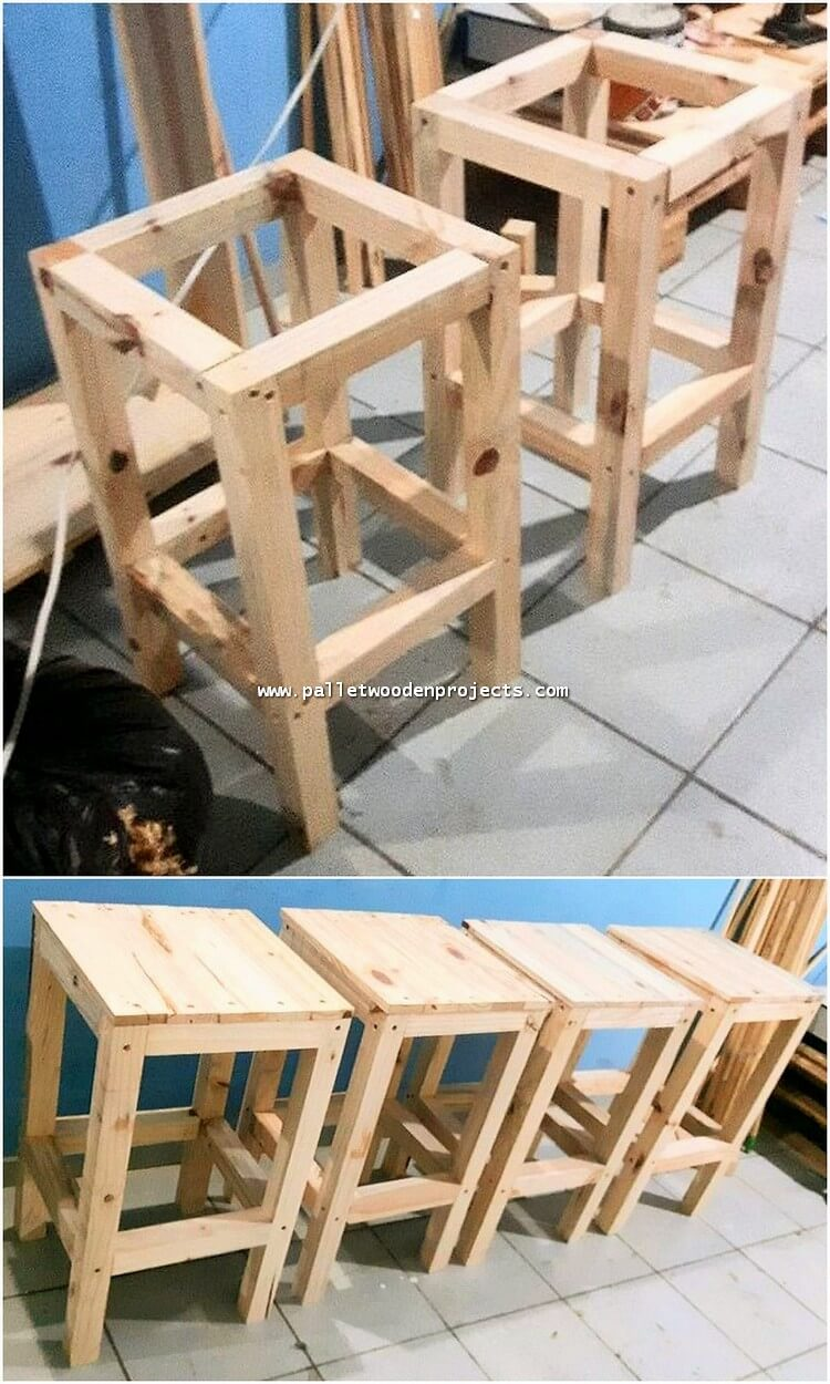 DIY Pallet Side Tables