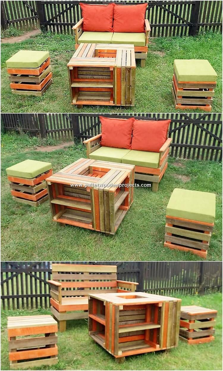 Garden Pallet Bench and Table