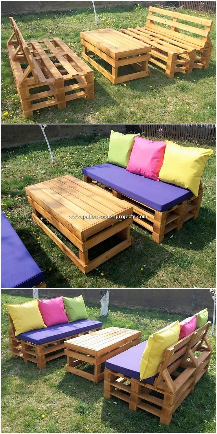Pallet Benches and Table Plan