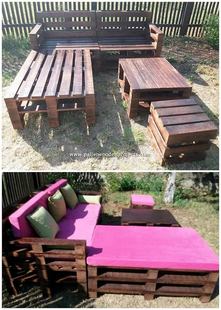 Pallet Couch and Table Idea