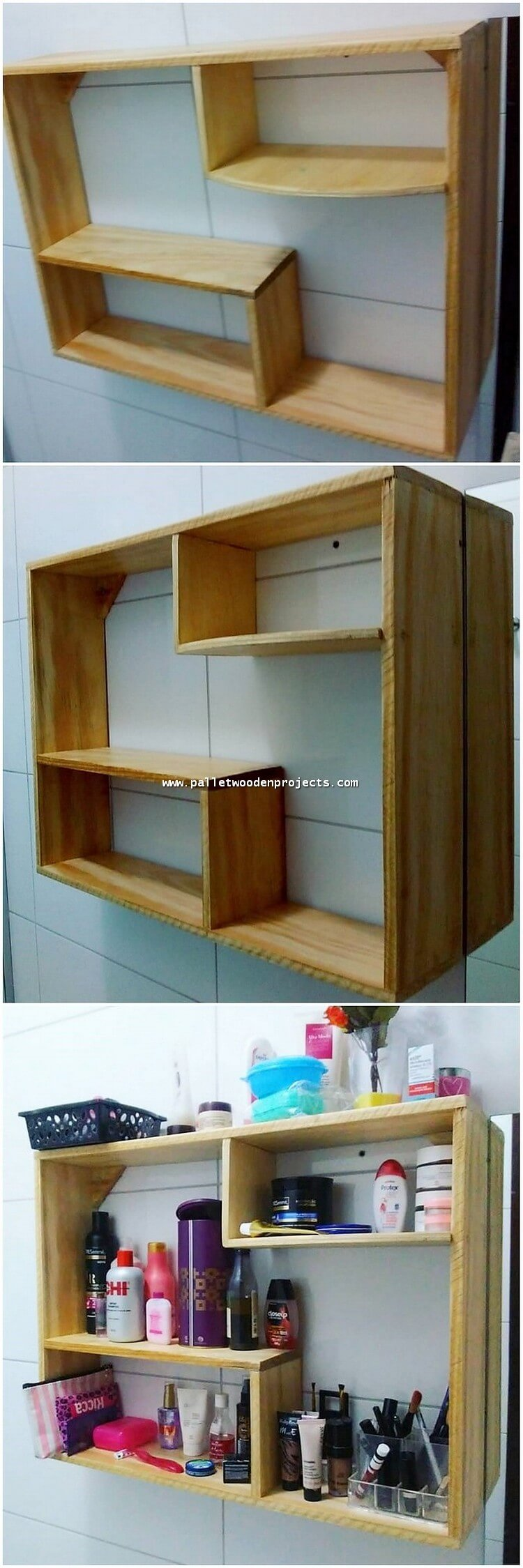 Pallet Makeup Shelf