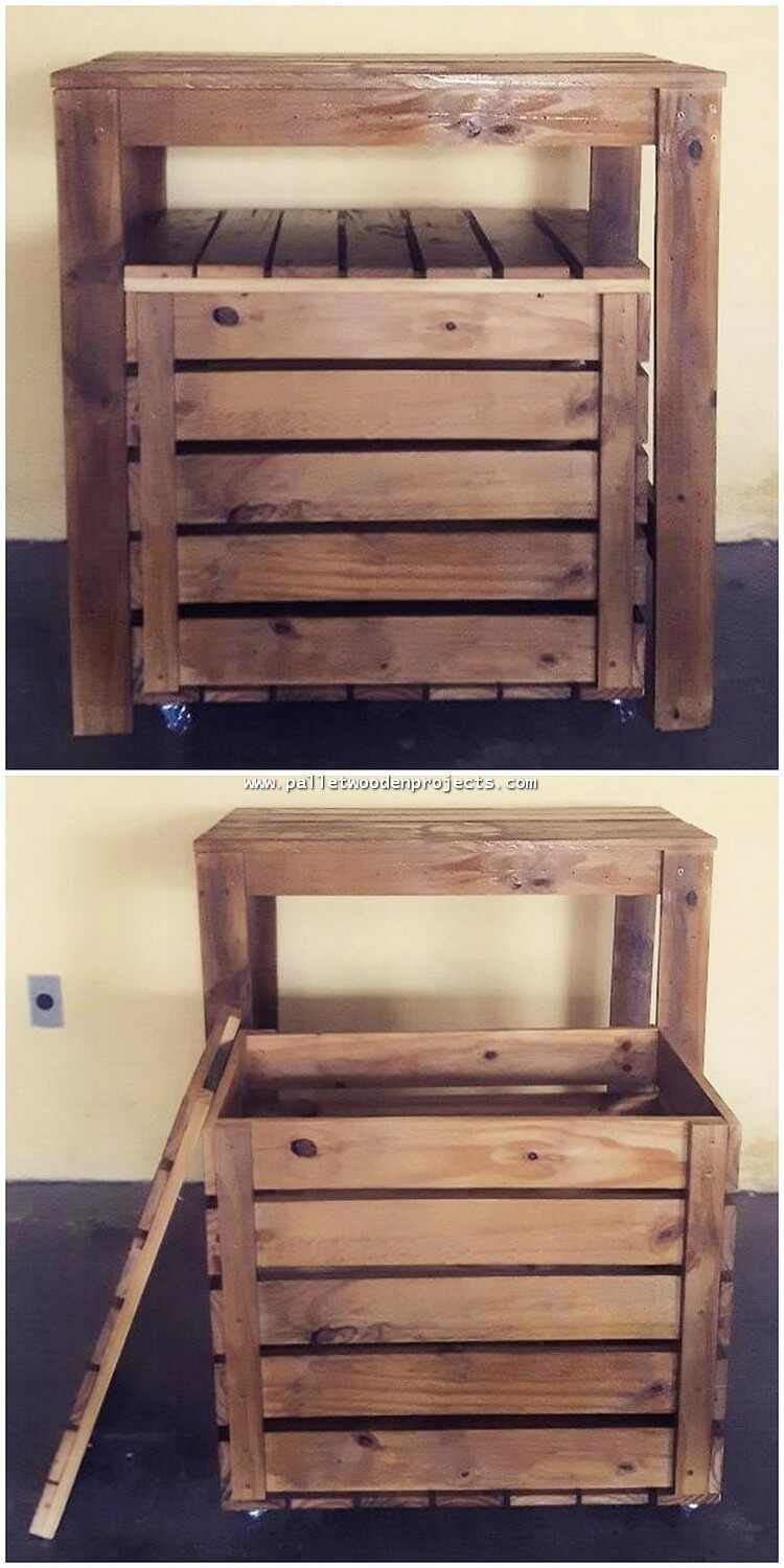 Pallet Stool with Storage