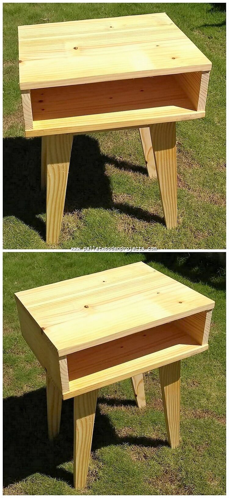 Wood Pallet Side Table