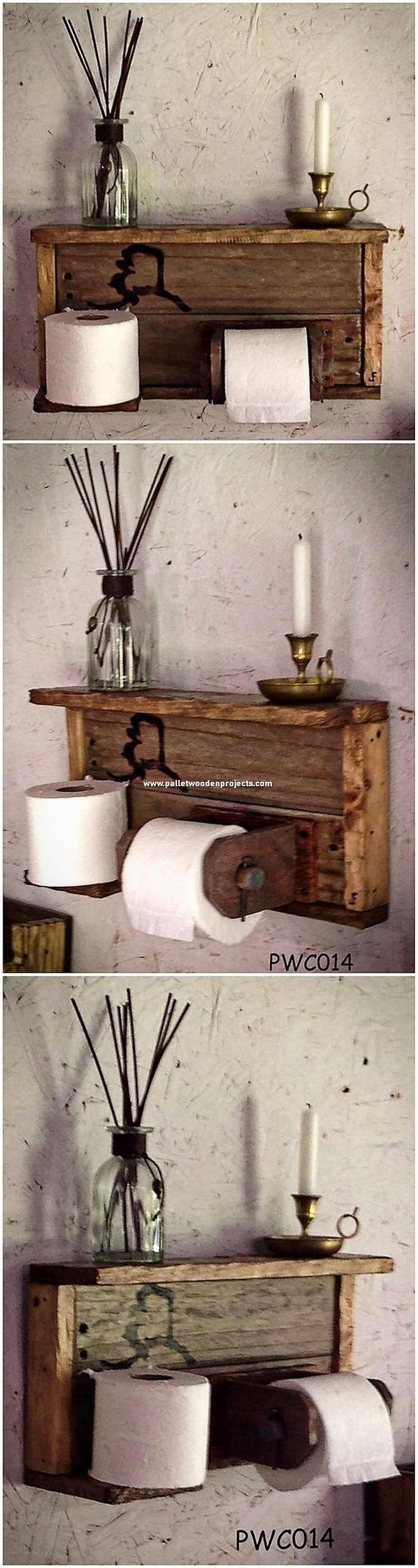 Pallet Bathroom Shelf