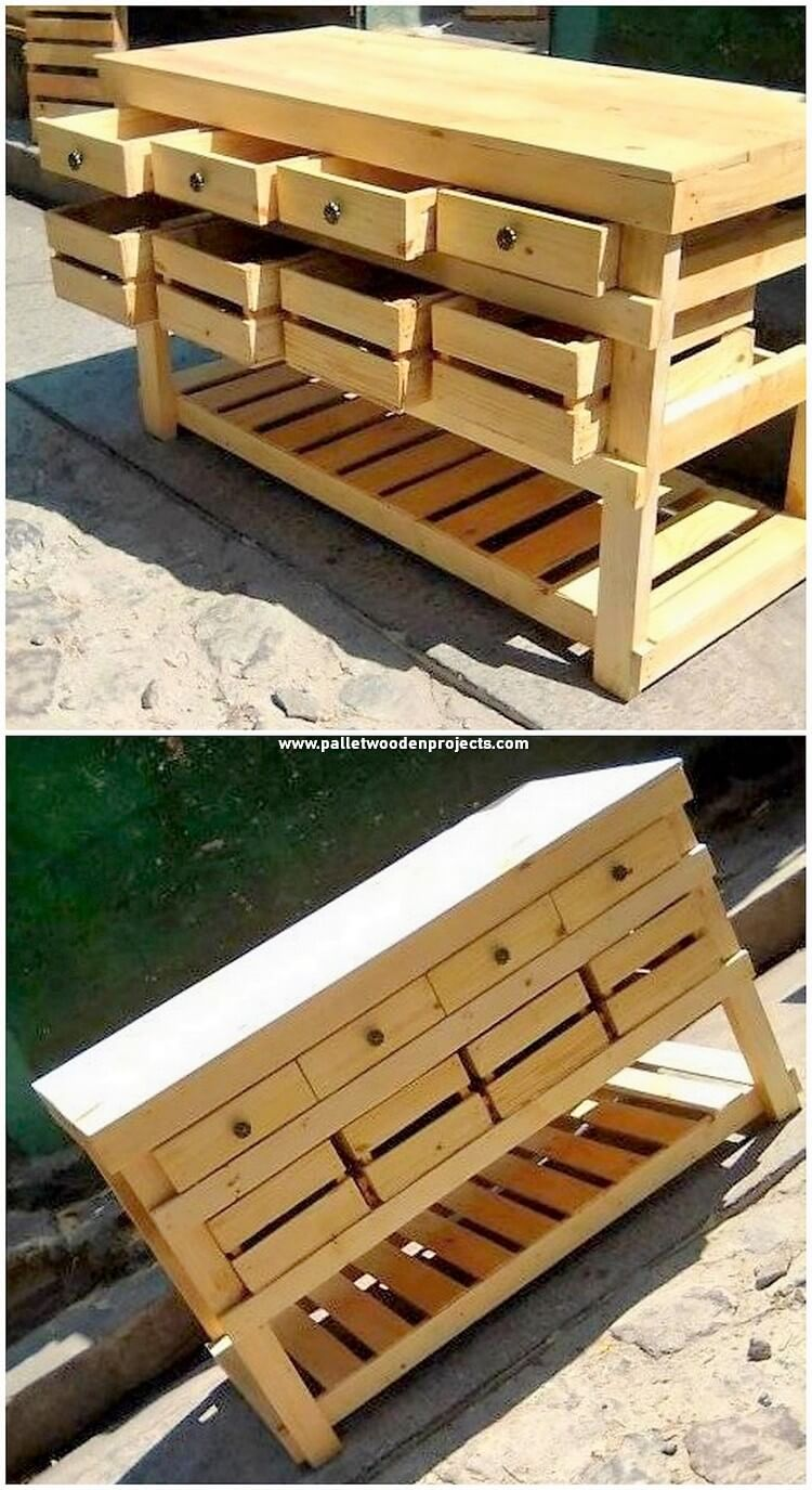 Pallet Table or Chest of Drawers