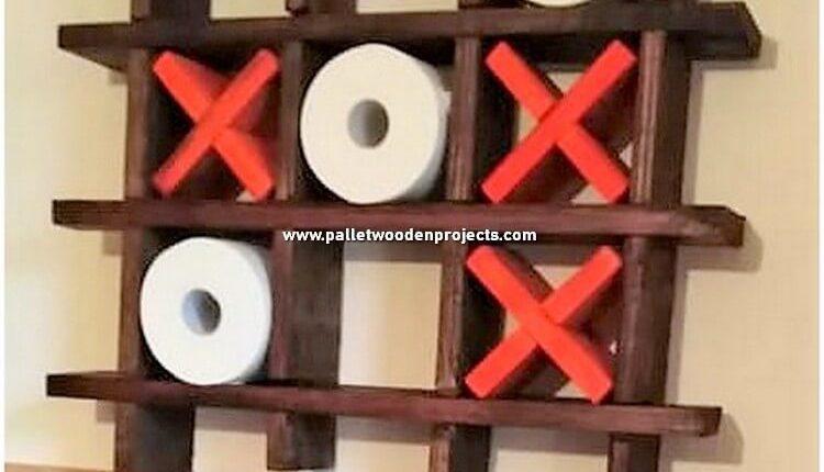 Pallet Toilet Paper Roll Rack
